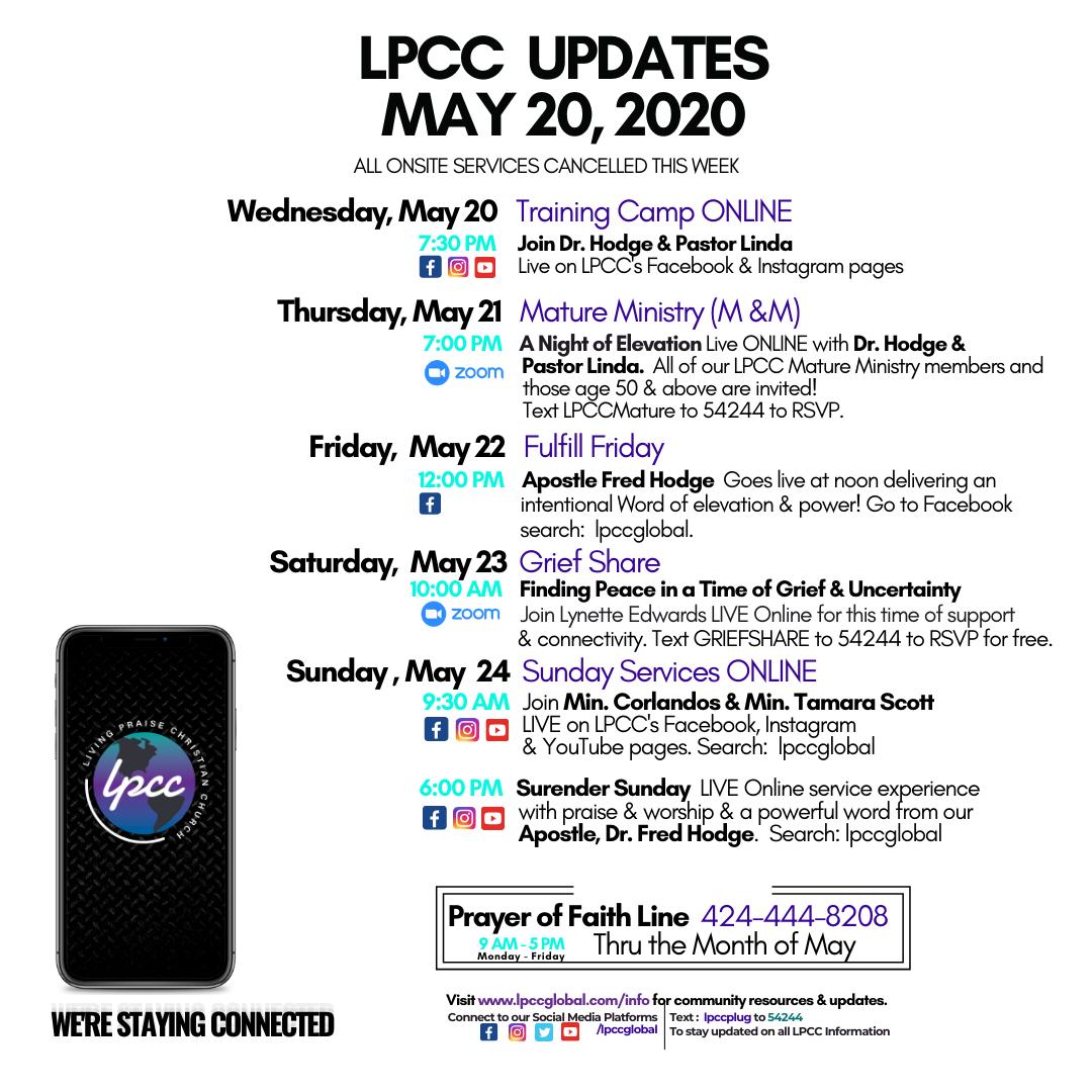 LPCC Updates MAY 20 Wednesday
